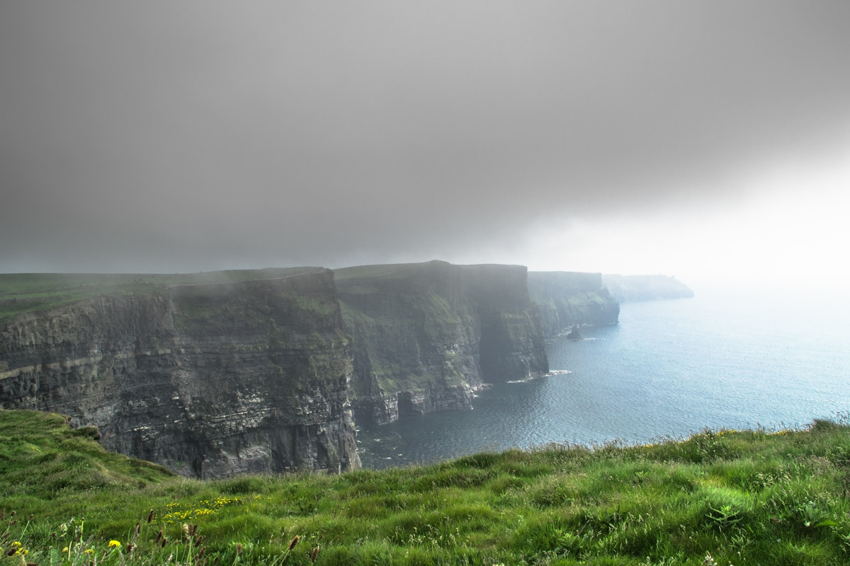 a description of cliffs of moher It has a stunning picture of the cliffs of moher on the front and on the inside pages it is printed in full colour on both sides and is laminated to give a quality, high gloss, durable finish they are scored and delivered folded to the finished size.