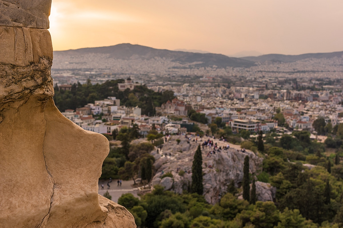 areopagus hill sunset