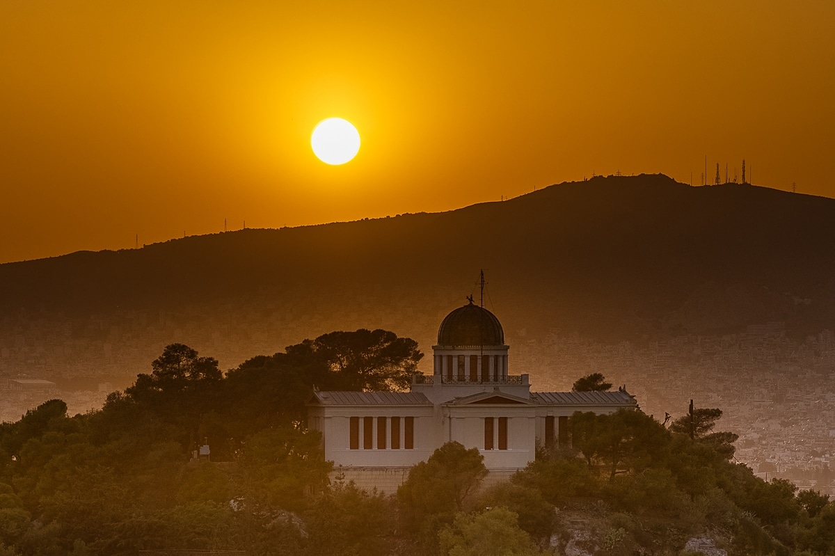 observatory on sunset