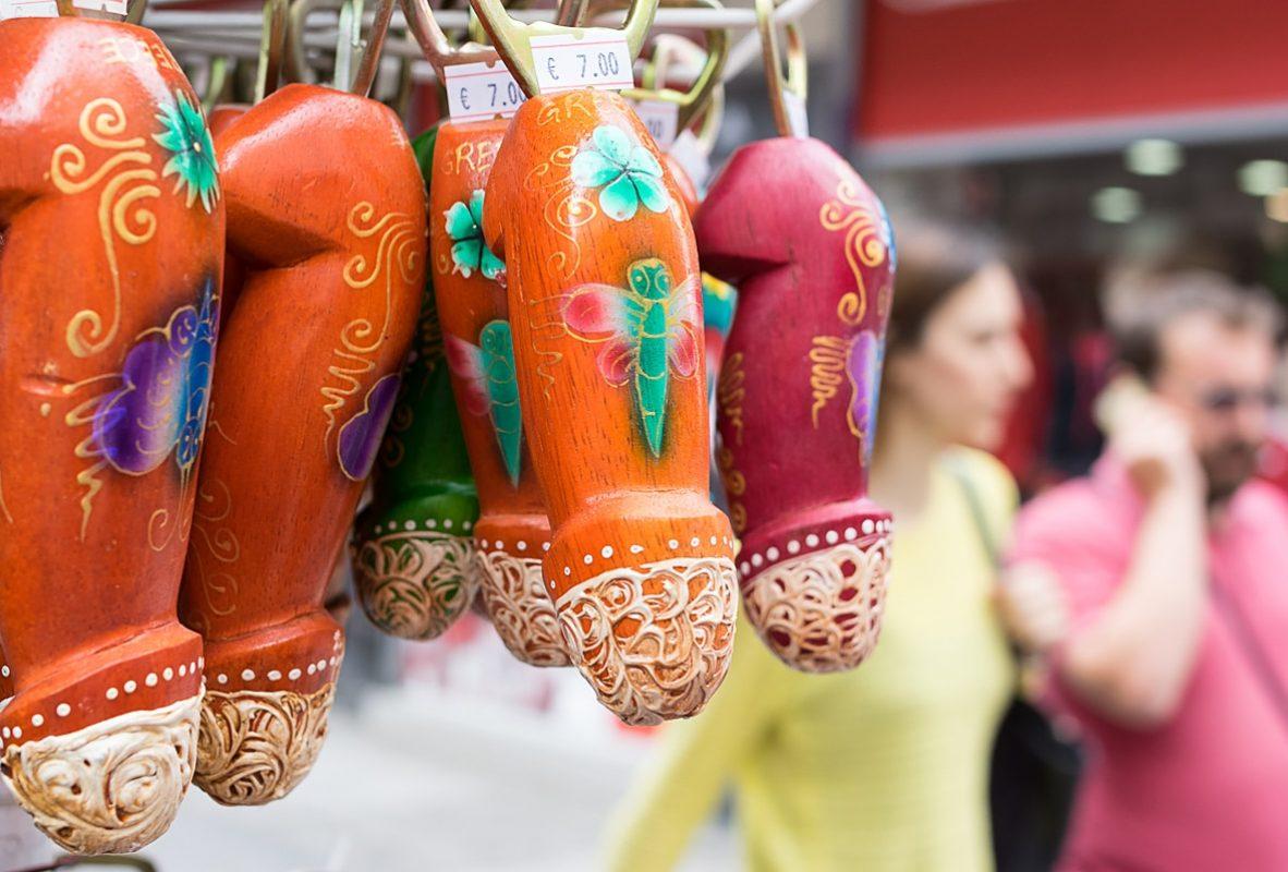 Bottle openers sold in the flea market