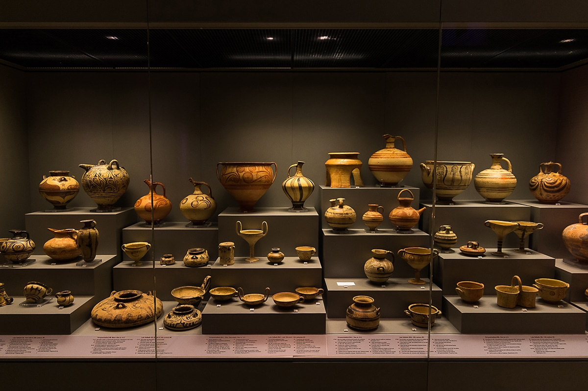 pottery collection in National Archaeological Museum