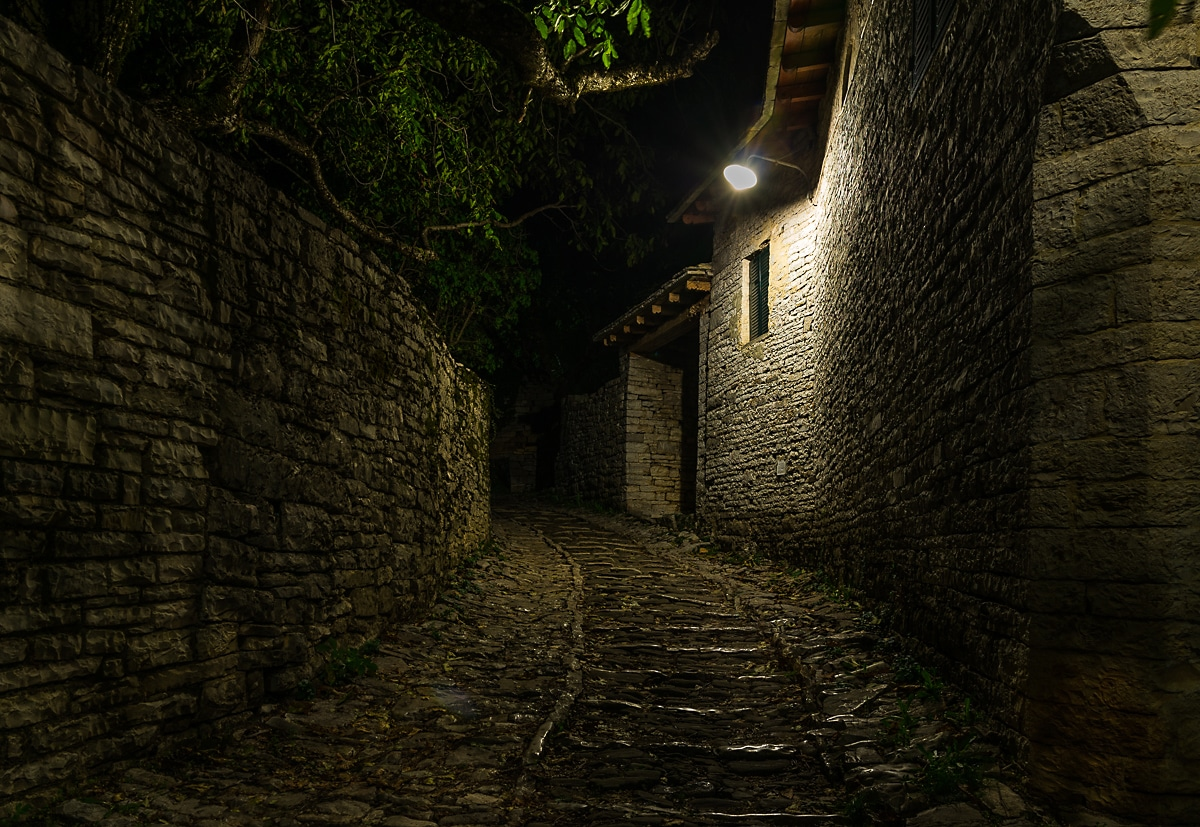 Zagori Hike Alley in the night