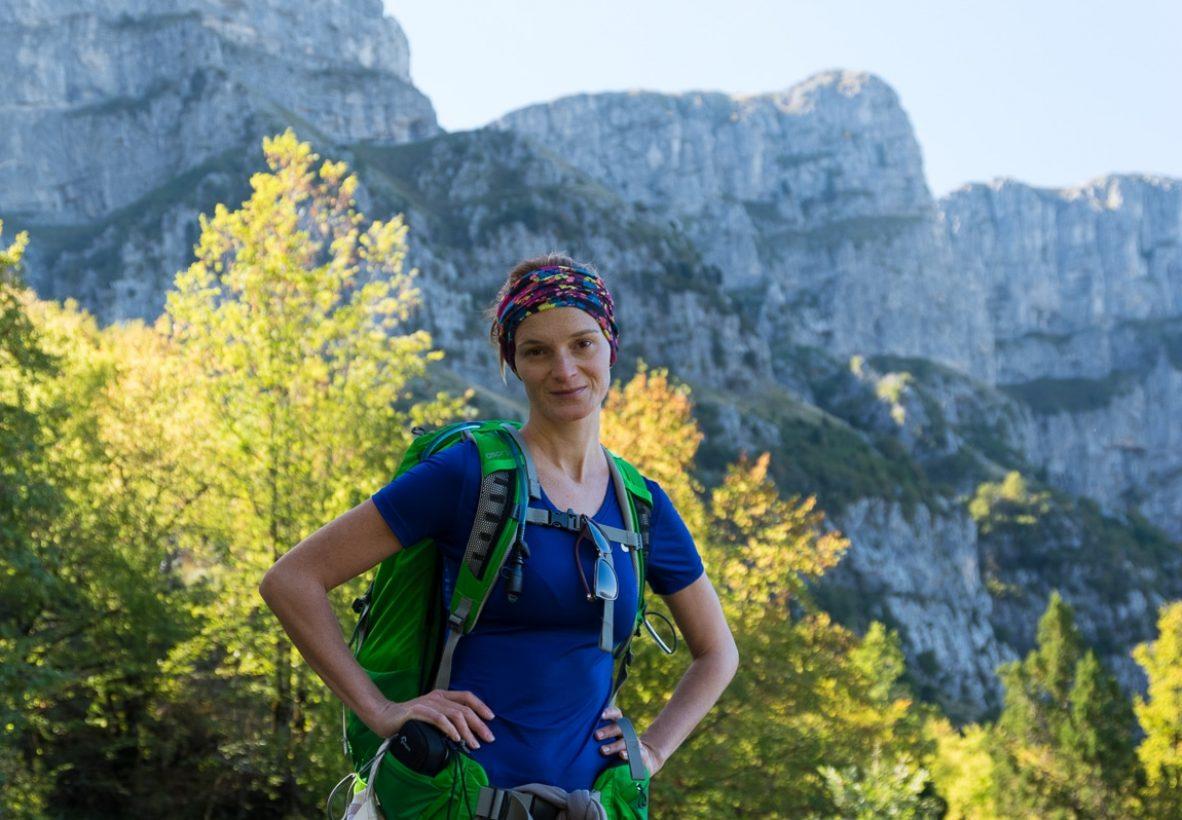 Veronika on the way to Astraka refuge