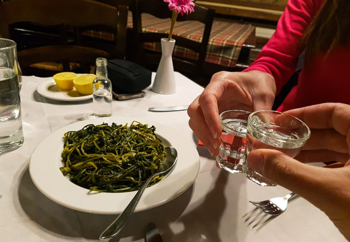 Greens and Tsipouro