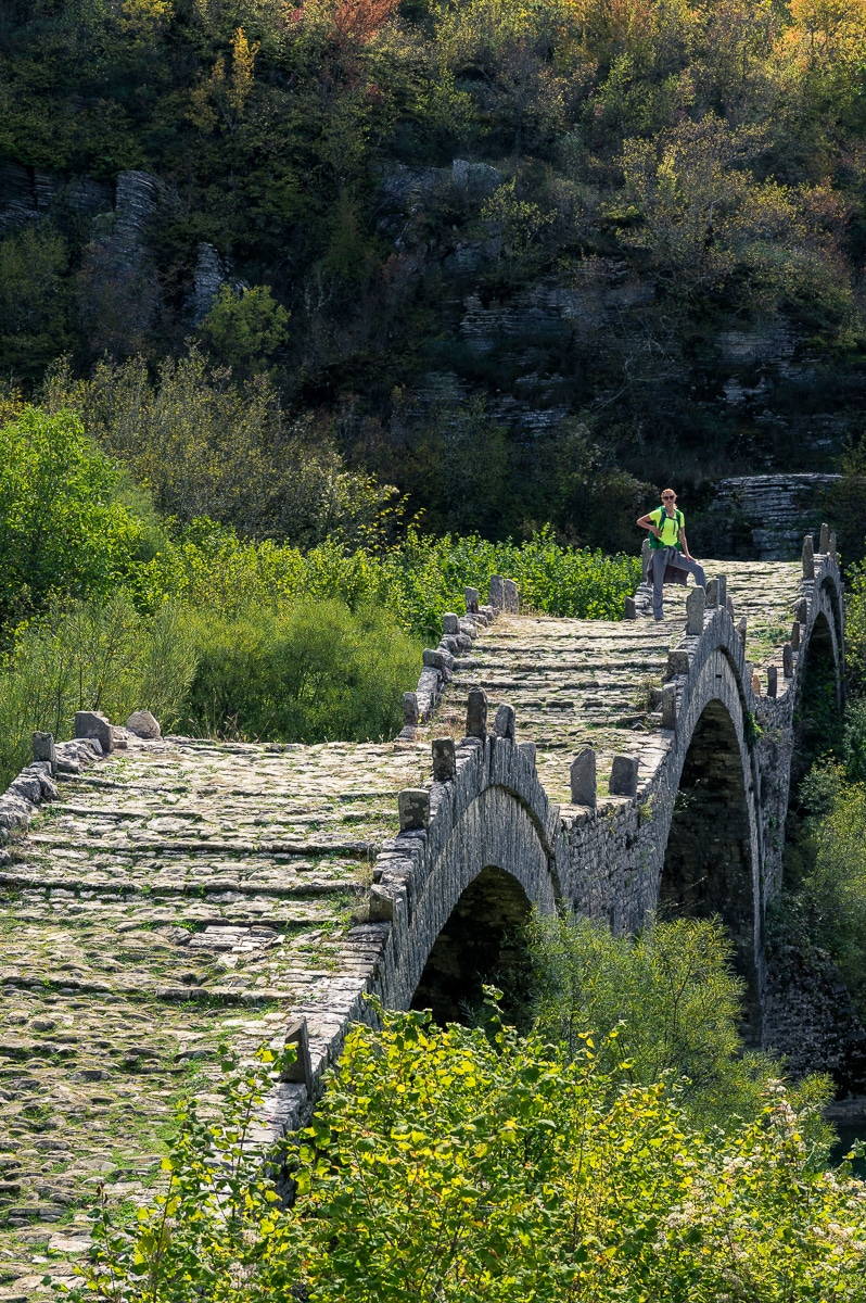 We hike from Kipi to Dilofo through green forests and across some of the most famous and beautiful stone bridges in Zagori.