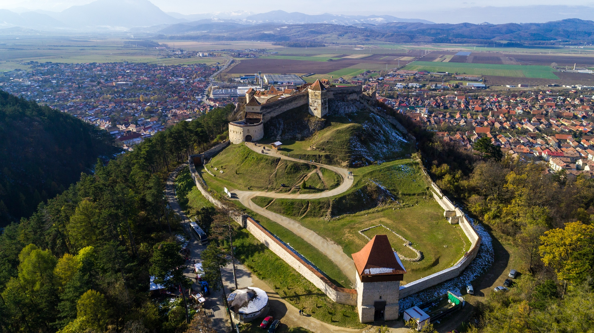 Rasnov Citadel aerial photo