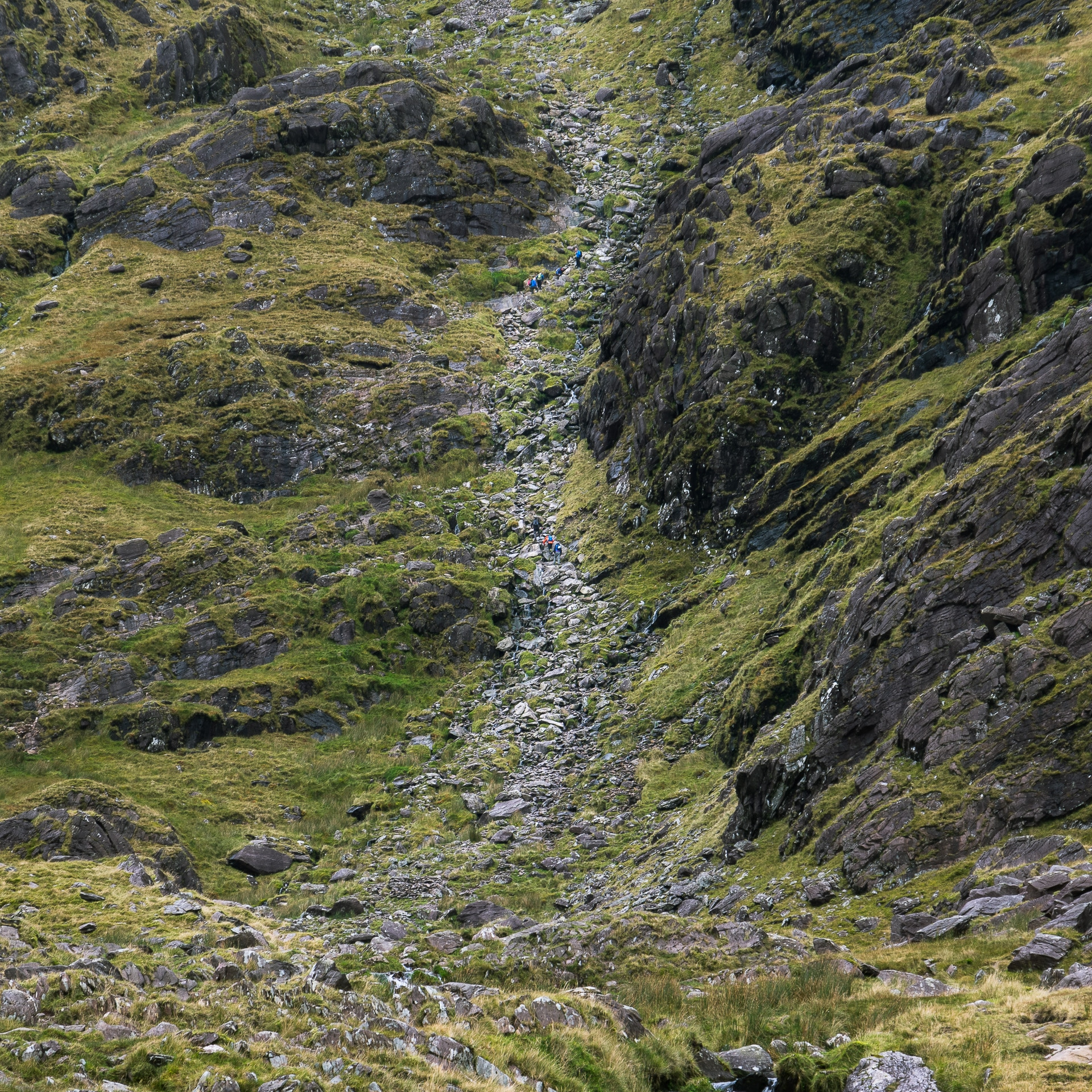 image of the gully known as Devil's ladder