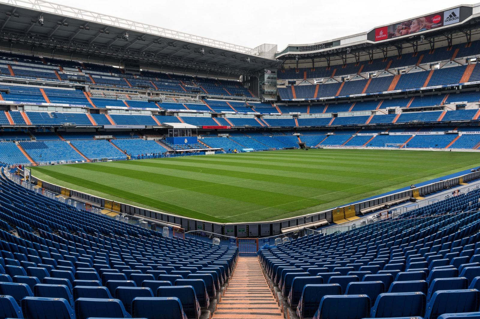 the field of stadium santiago bernabeu