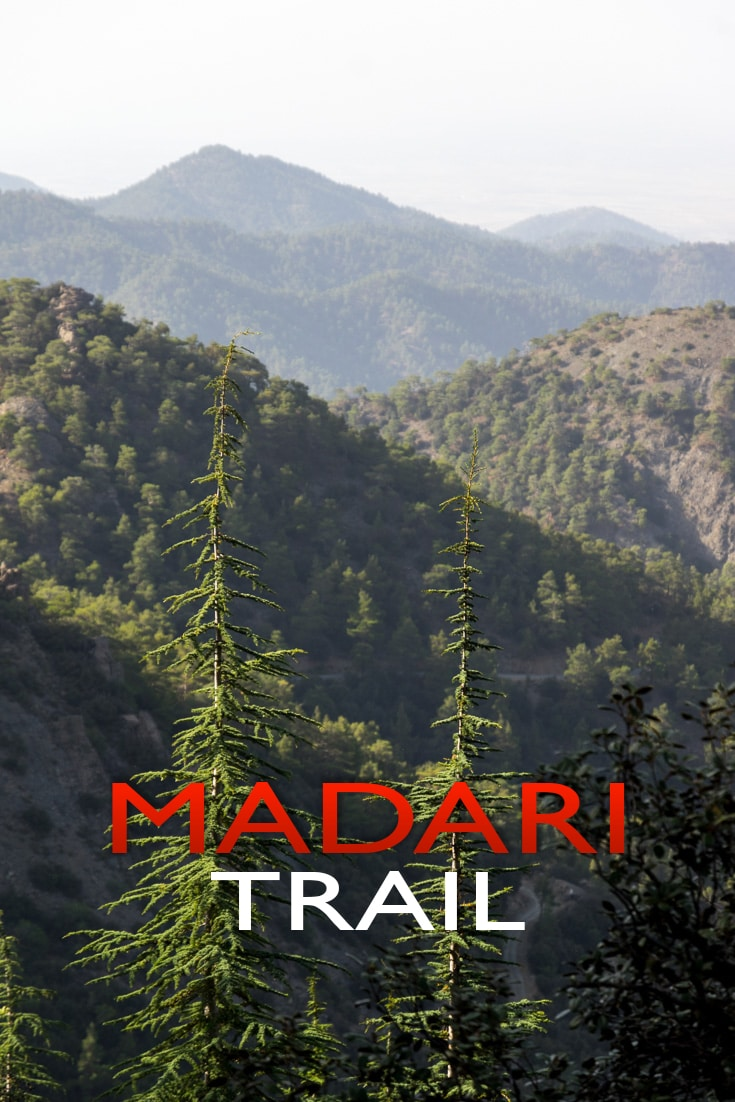 Being one of the most beautiful trails in Cyprus, Madari circular trail on Troodos Mountains has some of the most breathtaking views in the whole island.