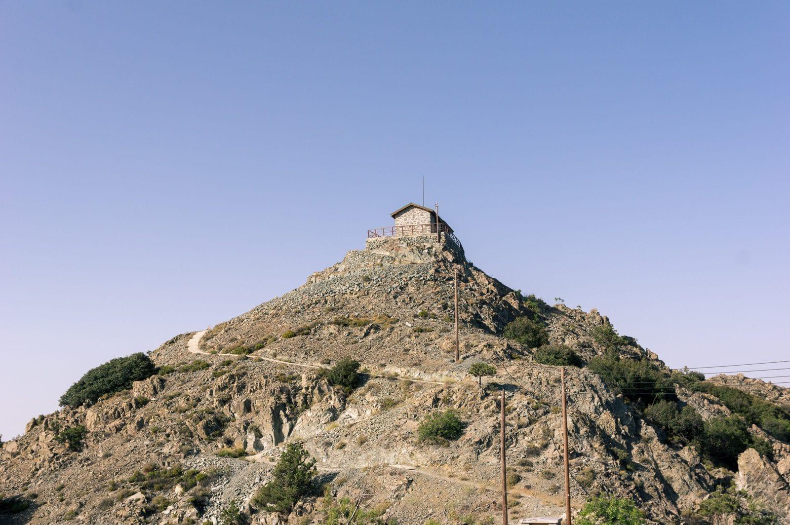 the fire lookout of Madari on top of Aderfi peak