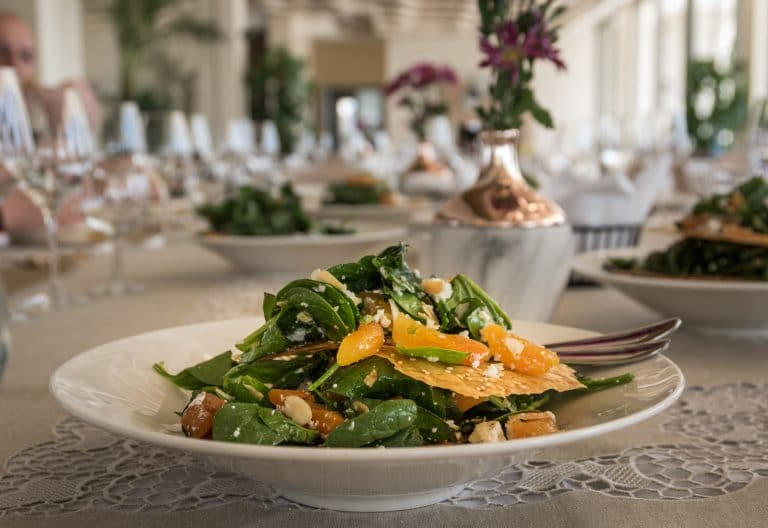a plate of apricot salad
