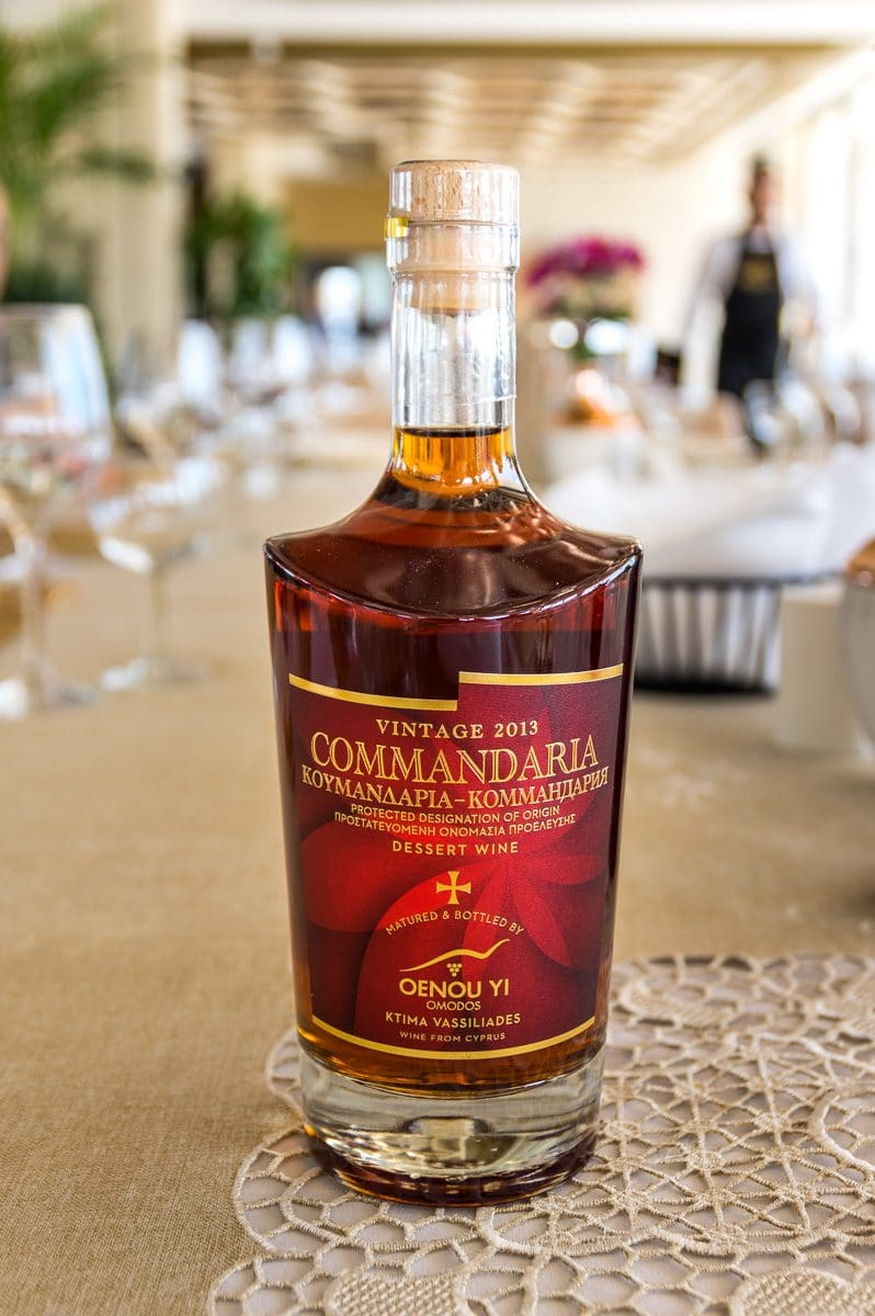 A bottle of vintage commandaria