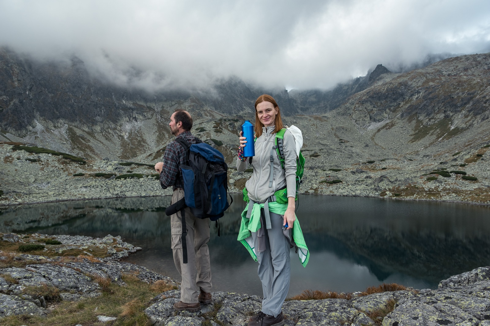 Veronika and Marian in front of Batizovske pleso