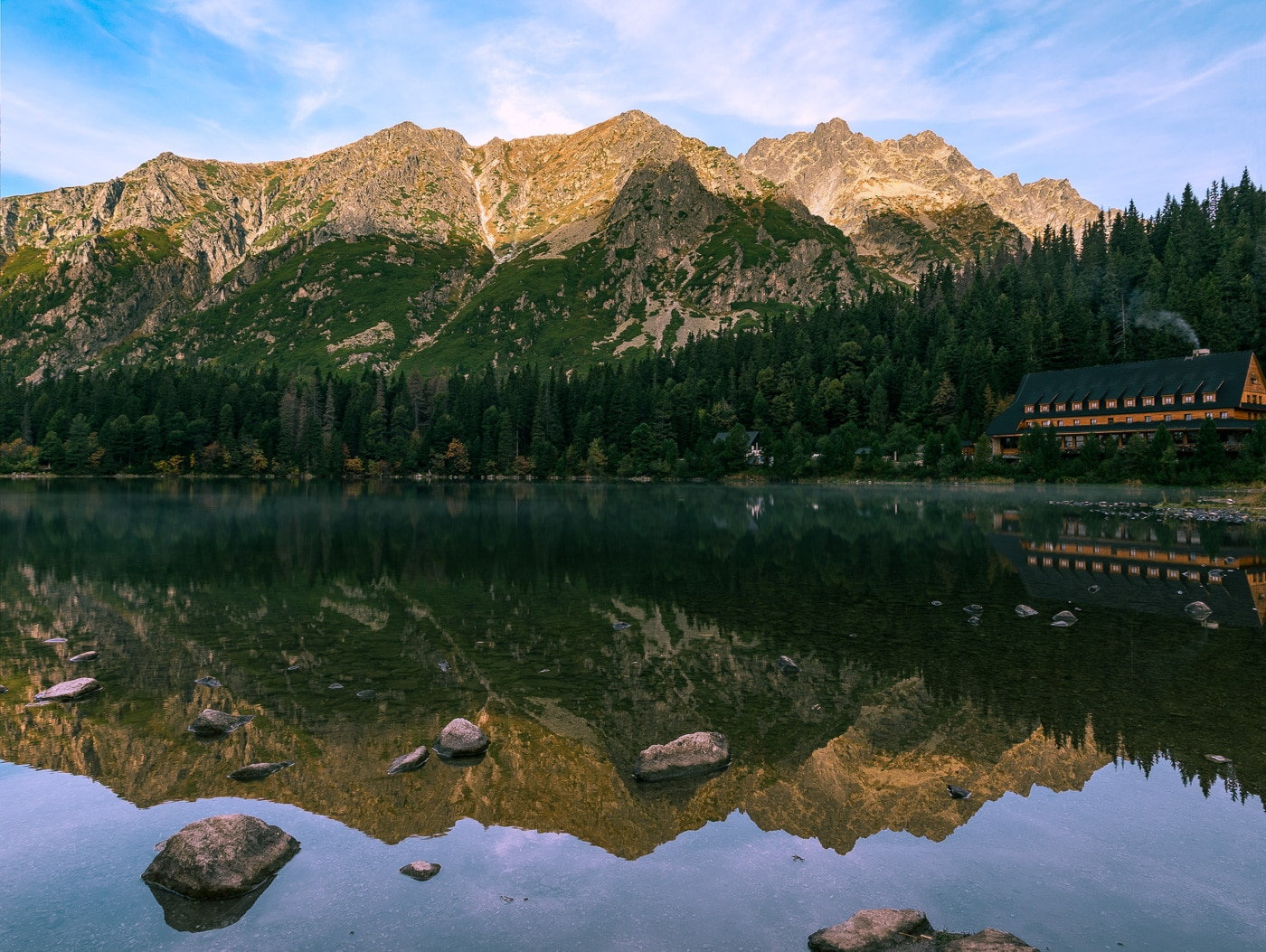 hiking in High Tatras- Popradske pleso