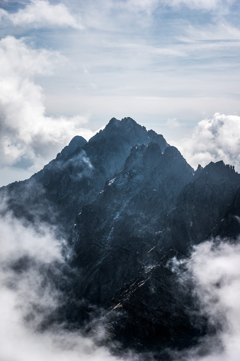 Hiking in High Tatras-Satan stit