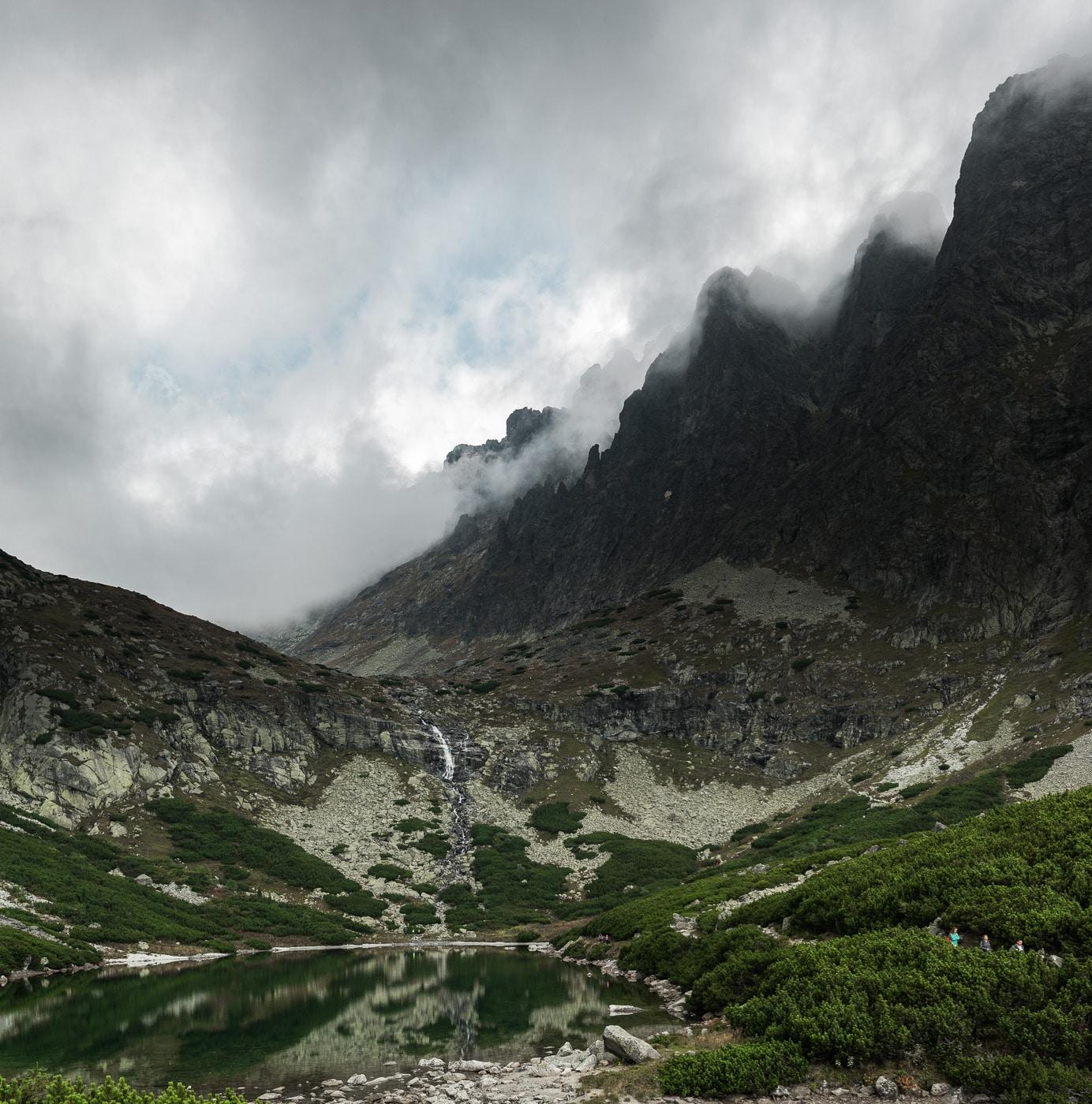 Velicke pleso under a cloudy sky
