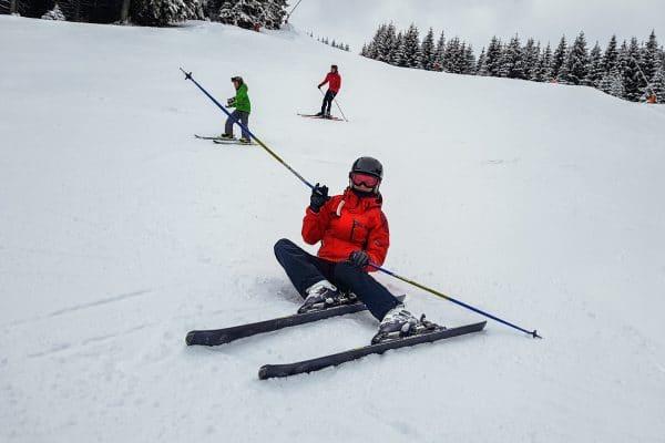 skiers in a ski resort in Slovakia