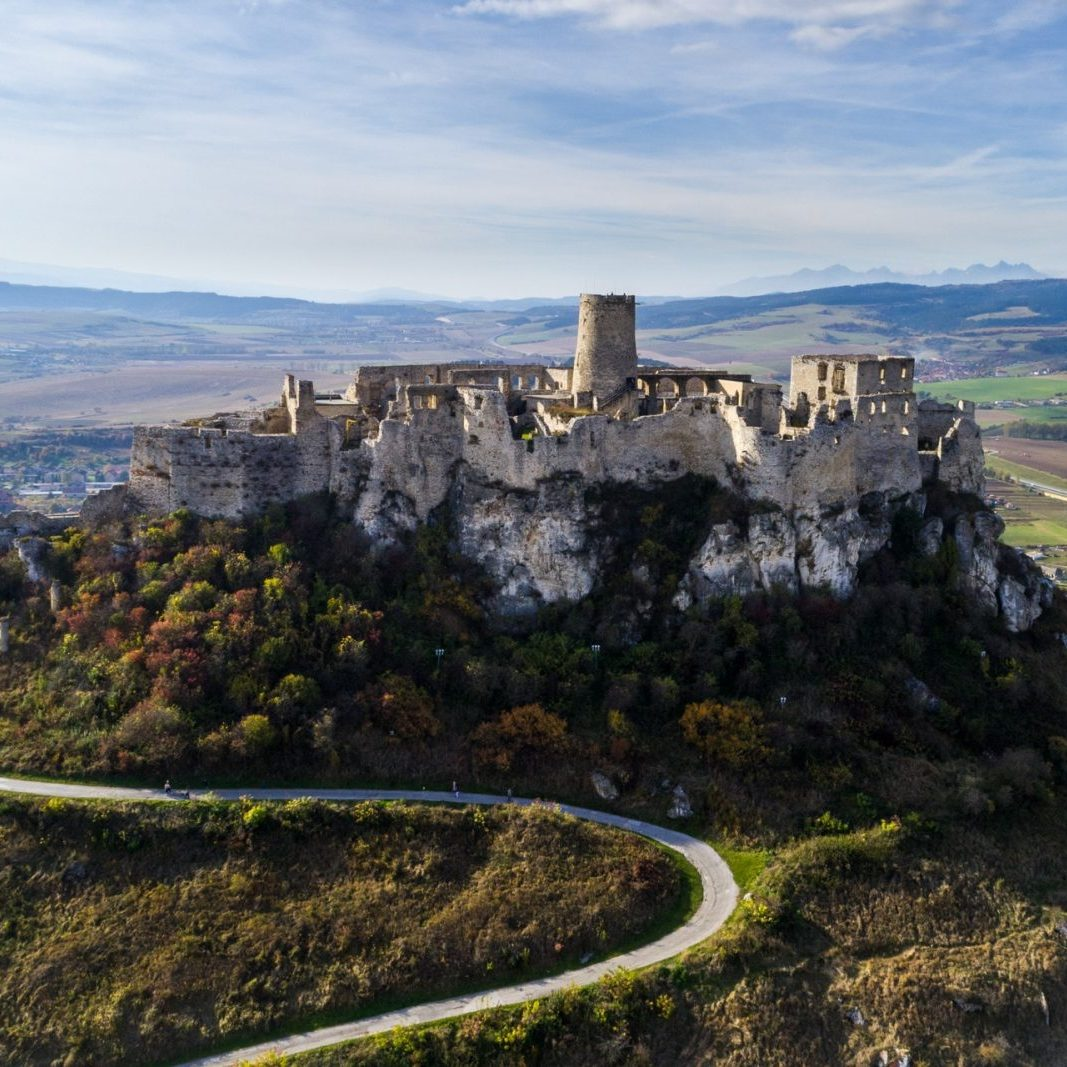 Spis castle from the west