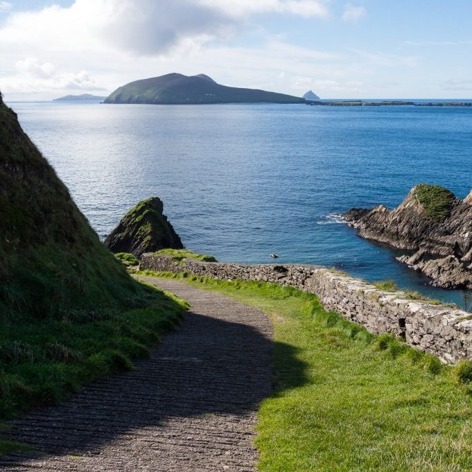 Dunquin pier and the Atlantic ocean